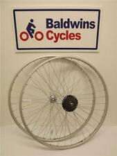 700c PAIR NARROW HYBRID / ROAD Bike / Cycle Wheels + 7 SPEED FREEWHEEL