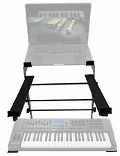 Rockville Dual Shelf Laptop+Controller Stand for Novation IMPULSE 49 Keyboard