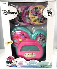 """Disney Minnie Mouse Together We Rock """"Sing with Me"""" CD Player Plays 16 songs"""