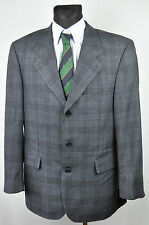 HUGO BOSS by LORO PIANA Blazer UK 44 Checked Plaid Pattern Wool Coat Jacket 54