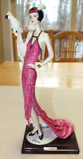 """Guiseppe Armani Lady with Parrot My Fair Lady Porcelain Figurine 13"""" Tall Italy"""