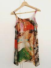 Husk Ladies Earthy Singlet tunic cami Top Size 2 AUS 10 singlet semi sheer boho