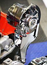 SB Chevy High Mount Short Water Pump Alternator Bracket Chrome Steel 283 327 350