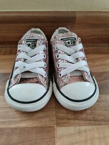 Baby Girls Converse Pumps Infant Size 4