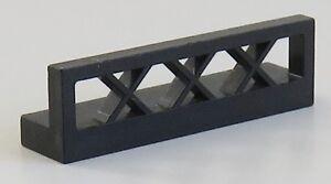 LEGO - Zaun / Fence 1 x 4 x 1 (5 Stück), schwarz # 3633