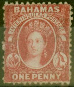 Bahamas 1863 1d Carmine-Lake SG21 Fine Mtd Mint