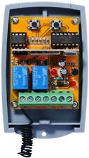 Universal 12-24V DC-AC 2-Channel Fixed & Rolling code Receiver 433.92MHz.