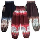 Harem Pants, Baggy OneSize Bali Elephant, Unisex, Yoga, Maternity, Hippie, Boho