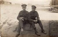 WW1 Prince of Wales Own Civil Service Rifles Soldiers Brothers RP Postcard