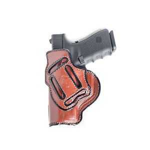MULTI-CARRY HOLSTER FOR WALTHER PK380. 4 IN1 IWB & OWB LEATHER HOLSTER.