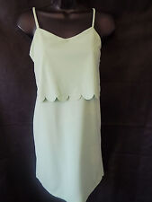 ASOS Scallop Layered Cami Dress UK Size 4 in Mint