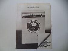 advertising Pubblicità 1980 LAVATRICE REX R 818