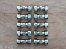 15mm Chrome Ballofix Slot type Quarter Turn Ball appliance isolating valves x 10