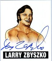 Larry Zbyszko LZ1 2012 Leaf Originals Wrestling Authentic On Card Autograph WWE