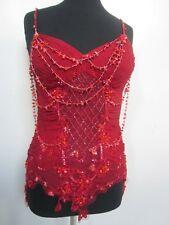 Fabulous, funky, fun, festive carmine red embellished bustier by Alberto Makali