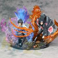 Anime Naruto Uchiha Itachi y Uchiha Sasuke PVC Figura Estatua de Juguetes