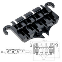 3 Point 4 String Bass Guitar Bridge Tailpiece for Guitar Parts Black