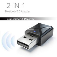 2 in 1 USB Bluetooth 5.0 Transmitter Receiver AUX Audio Adapter PC Headset TV UK