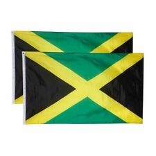 2-Piece Double Stitched Jamaica Flags National Flag Banners, Outdoor, 3 x 5 Ft