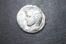 RARE ANCIENT ROMAN REPUBLIC SILVER DENARIUS COIN 1st CENTURY BC EQUESTRIAN