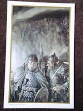 Lord Of The Rings PRINT Fantasy Art Alan Lee JRR Tolkien GORBAG and SHAGRAT Elf