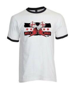 CM Punk Best in The World Printed T-Shirt White Ringer Return AEW Wrestling USA