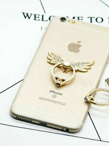 Universal 360 Rotating Finger Ring Stand Holder For Cell Phone Tablet - WINGS