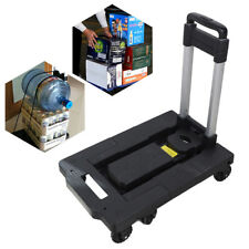 Folding Hand Truck Dolly Aluminum Hand Cart Portable Amp Stable With 7 Wheels