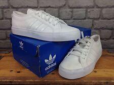 Adidas Herren UK 10 EU 44 2/3 Lo weiß Leder Nizza Sneaker Sommer