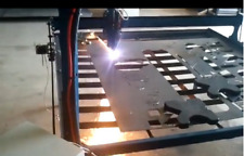 4x4 CNC Plasma Cutting Table Pro series with new laptop computer ready to go