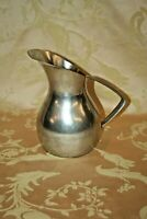 "Antique K.M.D. Tiel Royal Holland Pewter 8"" Tall Water Pitcher w/ Handle"