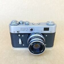 FED 2-E Vintage 35mm Rangefinder Film Camera W/ 52mm 2.8 - NICE
