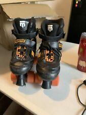 Mongoose Youth Boy Girl Kids Black Orange Roller Skates Adjust Size 5-8