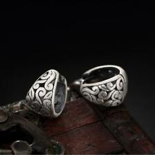 Hoop Endless Earrings Women A1545 925 Sterling Silver Retro Vine Huggie