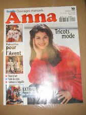 Anna Burda Ouvrages Manuels N°10 1996 Tricot Poinsettias Peinture à l'aiguille