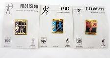 3 1996 Atlanta Olympic Lapel Pins Gymnastics Archery Athletics UPS Collector