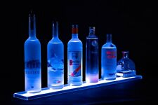 LED Lit Acrylic Bottle Display 2ft 10in Shelf