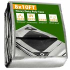 8x10 Heavy Duty Poly Tarp Canopy Tent Cover Shelter Reinforced Tarpaulin 10mil