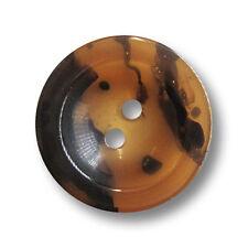 5 große honigbraun schwarze Zweiloch Kunststoffknöpfe wie Schildpatt (2657sb-26)