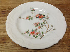 Coalport England Samarkand Asian Magnolia Floral Rim Orange 1 Bread Plate 16268