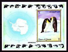 Umm al qiwain 1972 ** bl.51 Antártida pingüinos Antarctic penguins