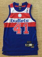 Vintage Reebok Washington Bullets Wes Unseld NBA Swingman 1977 Throwback Jersey
