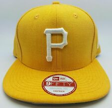 Pittsburgh Pirates MLB New Era 9Fifty Yellow Gold Snapback Hat/Cap