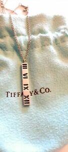 "Tiffany & Co Atlas Bar Necklace 16"""