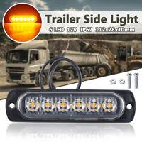 12V TRAILER SIDE S 6 LED STOP TAIL INDICATOR REFLECTOR TRUCK CAMPER