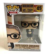 Funko POP! Icons Ruth Bader Ginsburg RBG American History Supreme Court #45