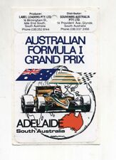 Adesivo Formula 1 AUSTRALIAN FORMULA 1 GRAND PRIX ADELAIDE Anni 80 F1 sticker