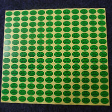 Green QC PASSED Stickers Oval Coated Paper Warranty Label 900pcs New
