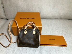 100% AUTHENTIC LOUIS VUITTON Nano Speedy M61252 Made in France
