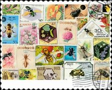 Bees & Wasps : 25 Different Stamps Collection